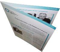 Институт современного развития - буклет - офсетная печать буклетов с последующей фальцовкой