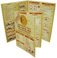 Рублев - буклет - офсетная печать буклета с одним фальцем