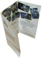 Ligum - буклет - офсетная печать, ламинация, 2 бига, 2 фальца