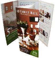 Family Hall Классическая домашняя мебель - офсетная печать буклетов, фальцовка