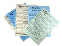 Листовки А4, ризограф, цветная бумага 80 гр