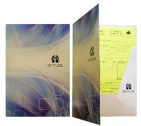 Папка А4 Передовые системы, офсетная печать, мел. картон, вырубка